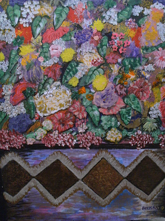 Bunch Of Flowers Painting by Becky Jenney