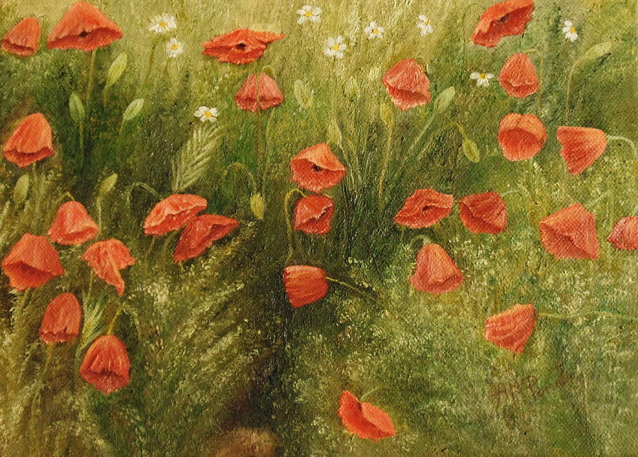 fineartamerica.com - Bunch Of Poppies by Angeles M Pomata