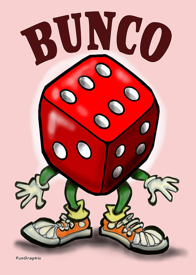 Bunco Greeting Card - Bunco by Kevin Middleton