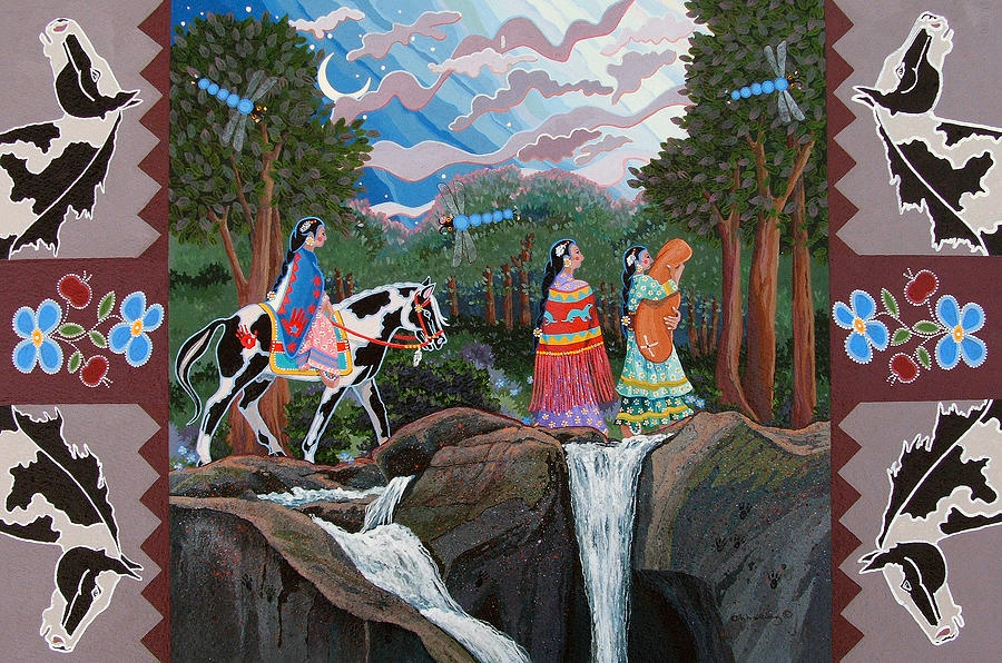 America Painting - Bundle Moon II by Chholing Taha