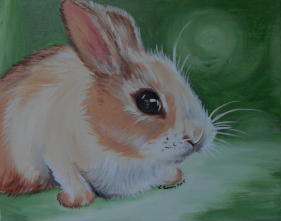 Bunny Painting - Bunny by Lisa Leeman