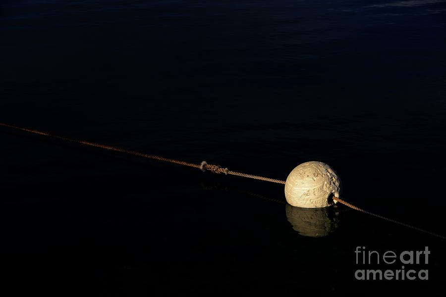Buoy Photograph - Buoy At Night by Stephen Mitchell