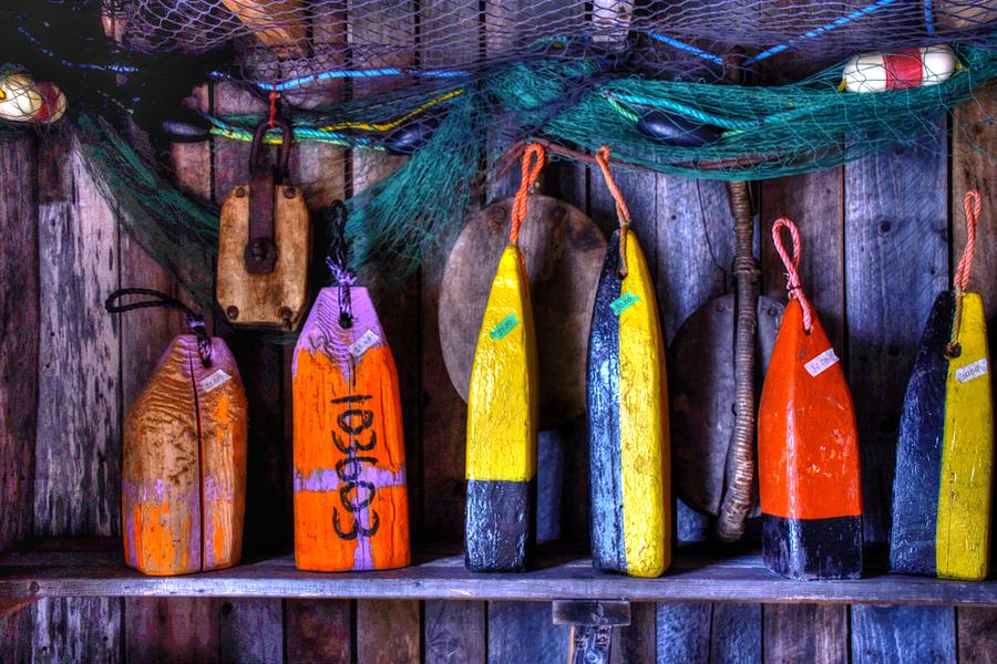 Lobster Buoys Photograph - Buoys For Sale  by Tim Ford