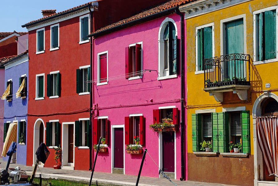 Burano Italy Houses Photograph By John Gilroy