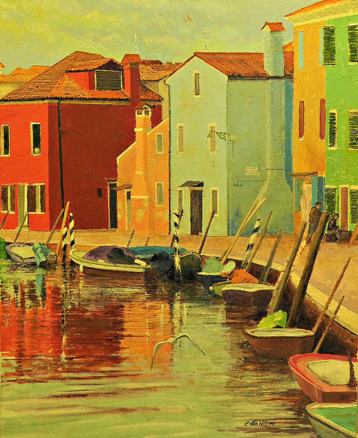 Burano, Italy - Study by E Colin Williams ARCA