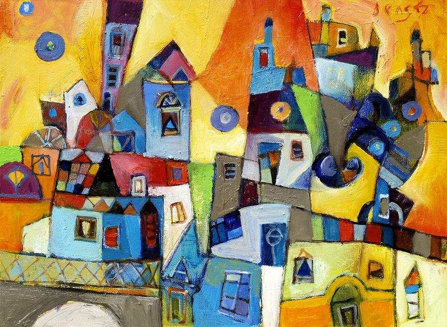 Burano Painting - Burano by Miljenko Bengez