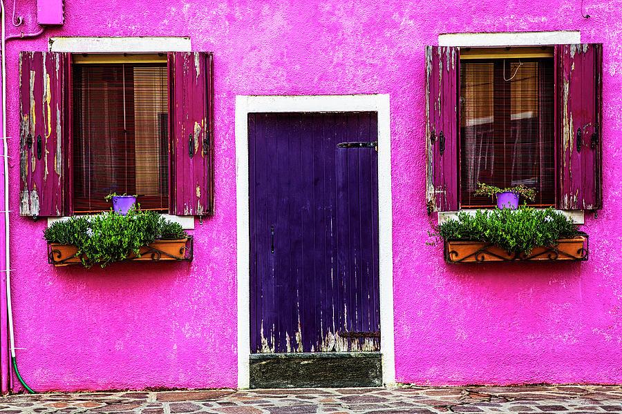 Burano Purple Photograph