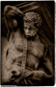 Statue Photograph - Burdened Budapest by K Randall Wilcox
