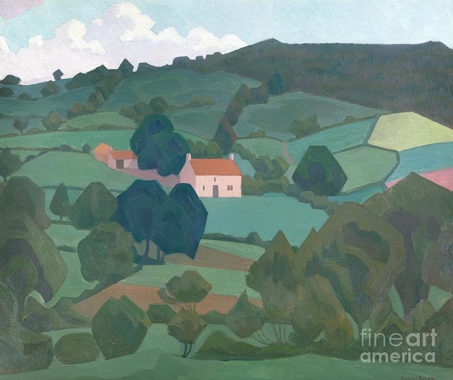 Devon Painting - Burford Farm, Devon, 1918 by Robert Polhill Bevan