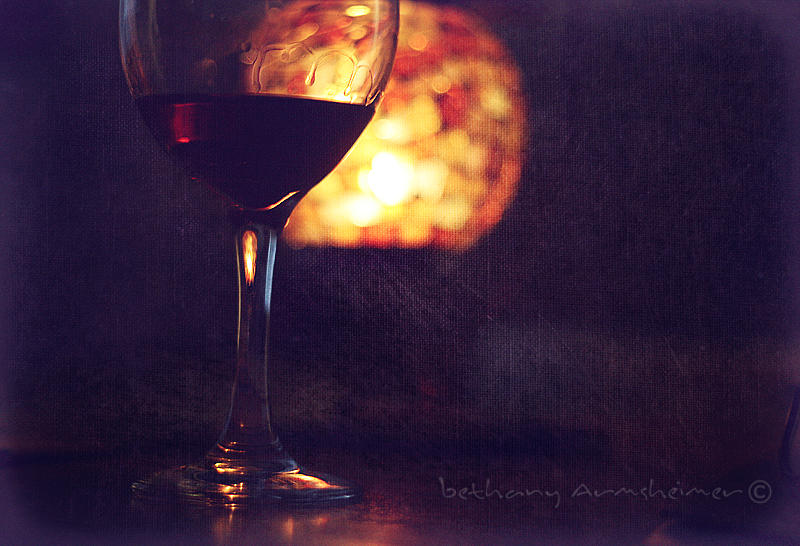 Wine Photograph - Burgandy And Light by Beth Armsheimer