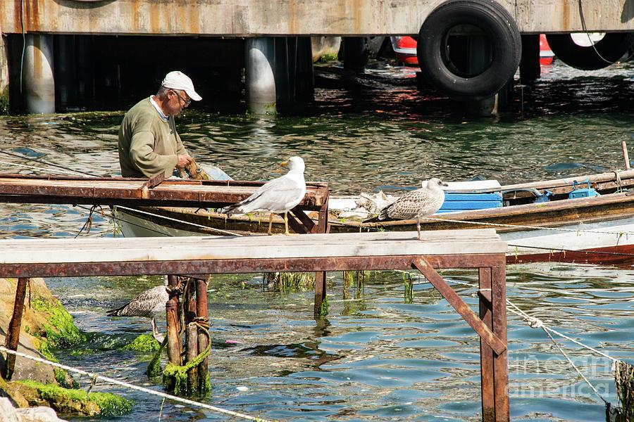Prince Island Photograph - Burgazada Island Fisherman by Bob Phillips