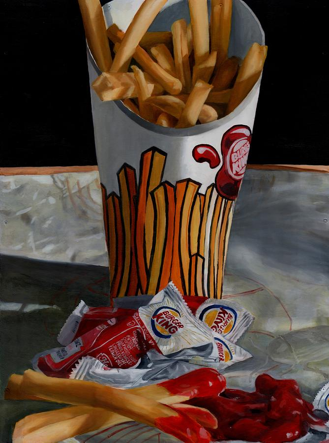 Fried Food Painting - Burger King Value Meal No. 5 by Thomas Weeks