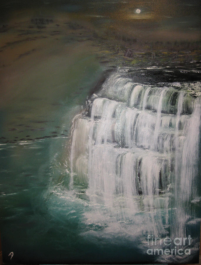 Waterfall Painting - Burgess Falls by Delnora Reed