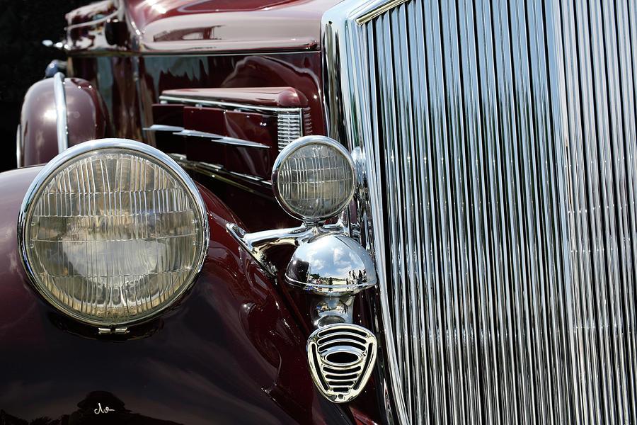 Pebble Beach Car Show Photograph - Burgundy Delight by Ave Guevara