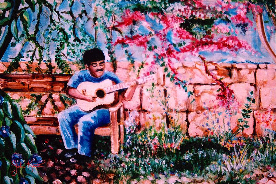 Burgundy Siesta Painting - Burgundy Siesta by John Keaton