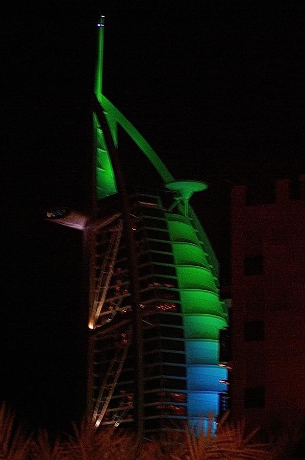 Burj Al Arab Dubai Night Photograph by Iain MacVinish