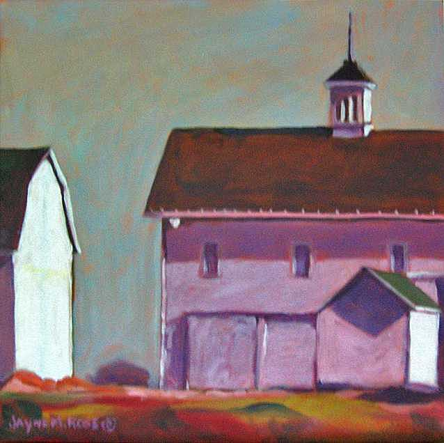 Farm Painting - Burket Farm   Sold by Jayne Rose