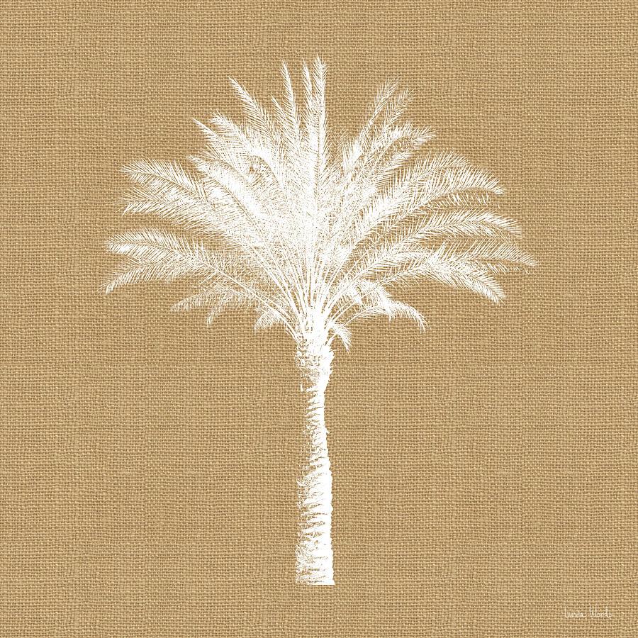 Palm Tree Mixed Media - Burlap Palm Tree- Art By Linda Woods by Linda Woods