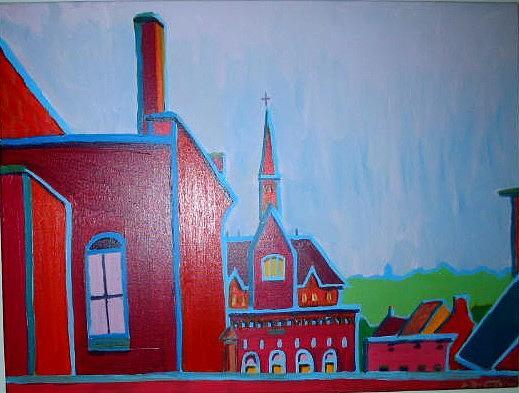 Landscape Painting - Burlington Dusk by Debra Bretton Robinson