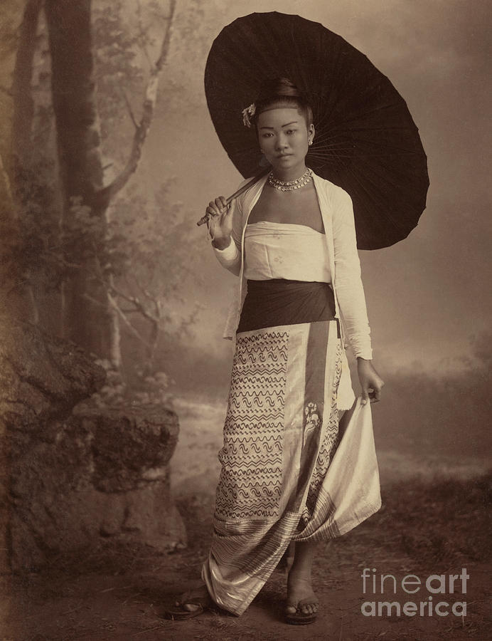 Albumen Photograph - Burmese Lady  by English School