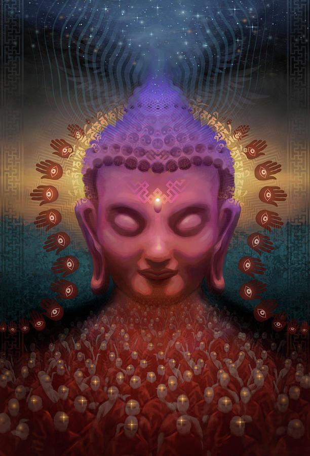 Buddha Digital Art - Burmese Step by George Atherton