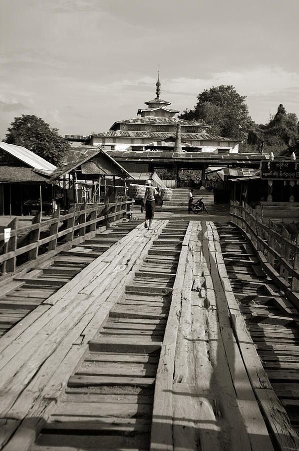 Burma Photograph - Burmese Wooden Bridge by Jessica Rose