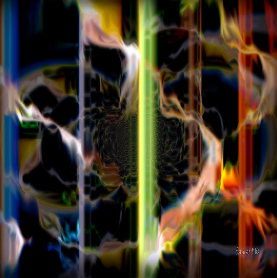 Fania Simon Digital Art - Burn The Fire by Fania Simon