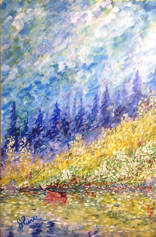 Impressionist Painting - Burnaby Lake by Georges St Pierre