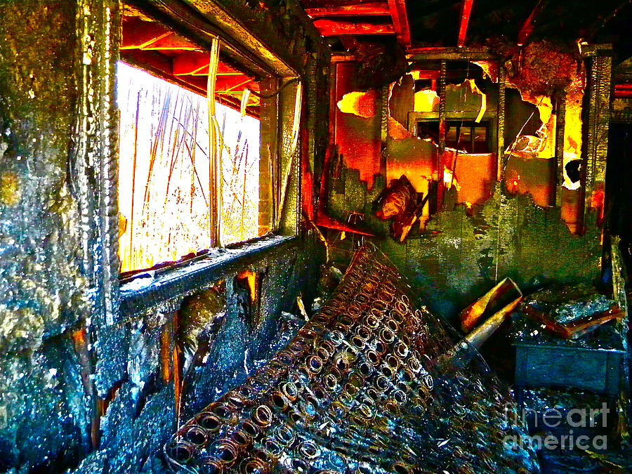 House Photograph - Burned by Chuck Taylor