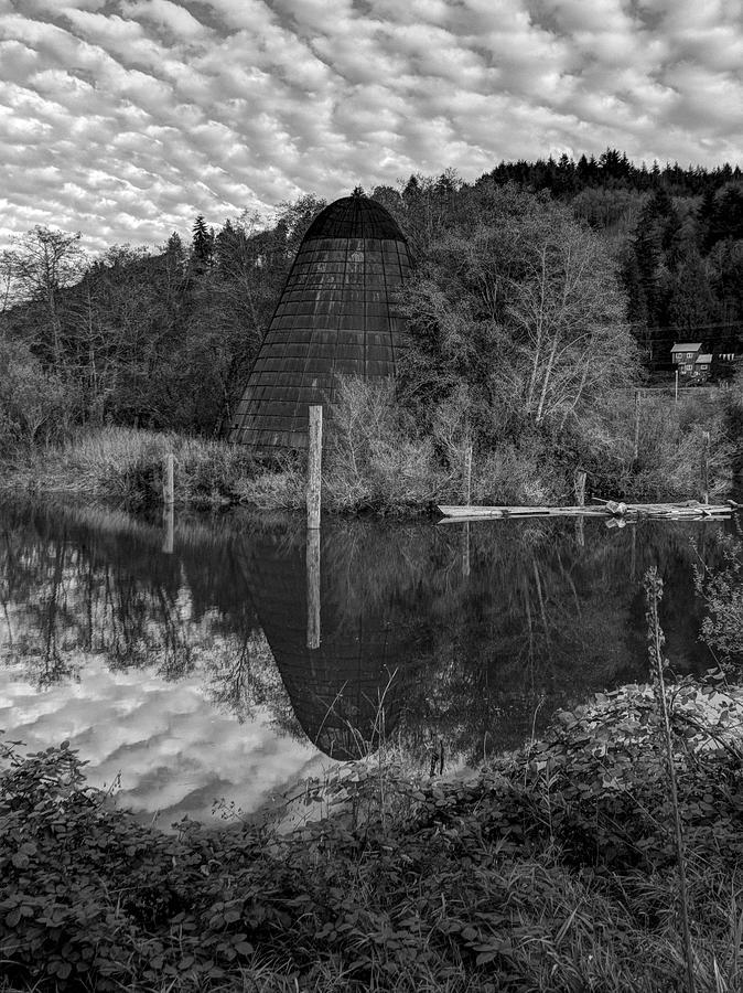 Logging Photograph - Burner - Old Mill site by HW Kateley