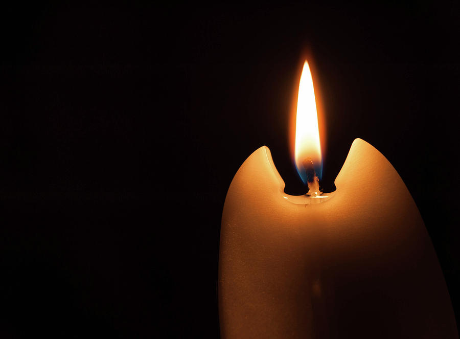 Candle Photograph - Burning Candle by Stefan Rotter