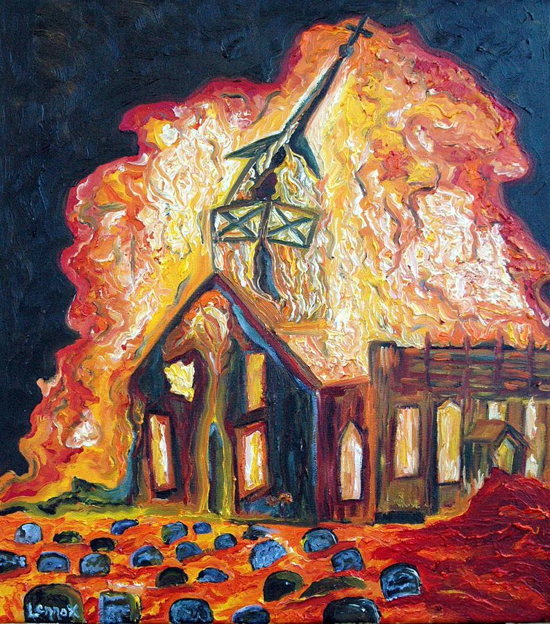 Burning Church 1 Painting