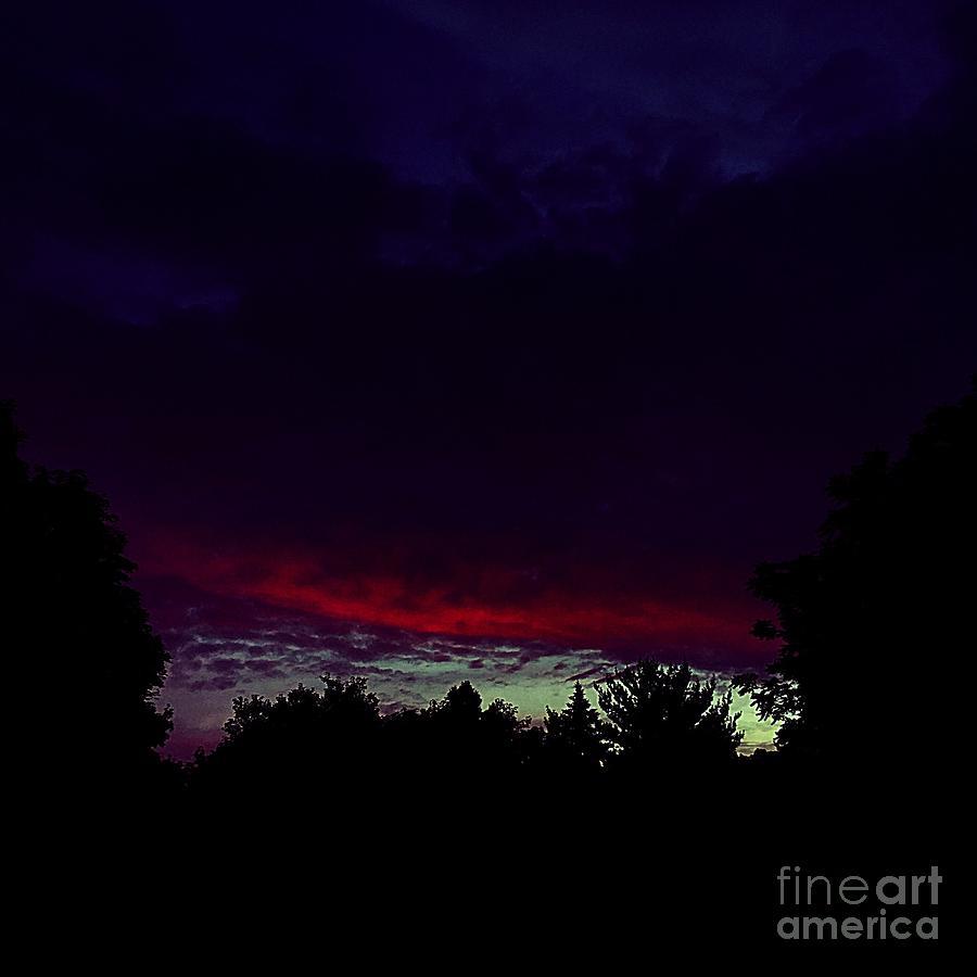 Burning Cloud Photograph