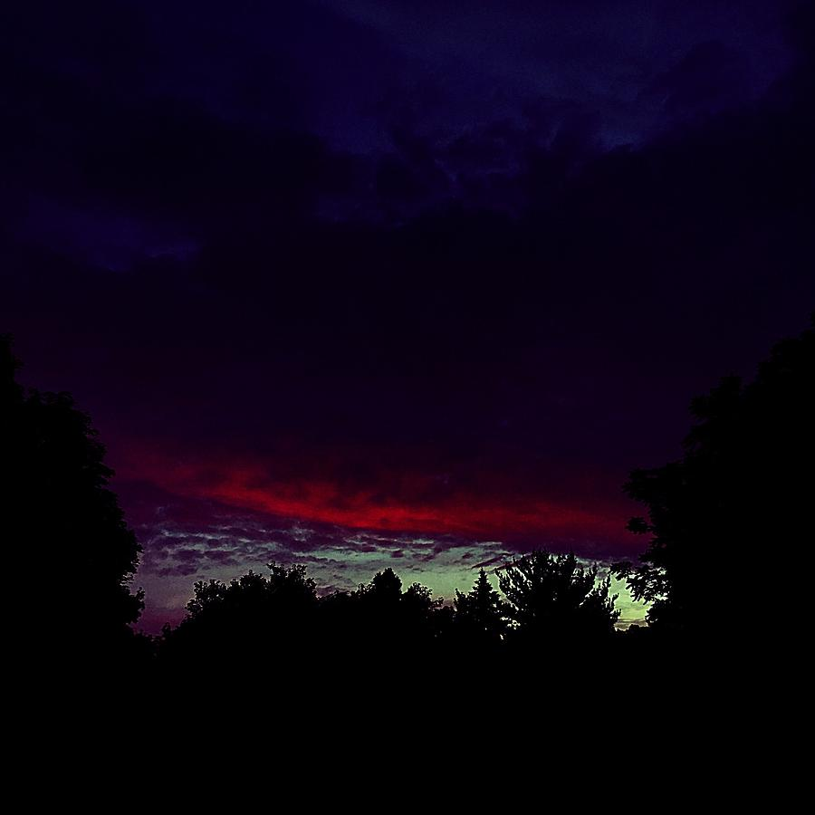 Fire Photograph - Burning Cloud Over My Head by Frank J Casella