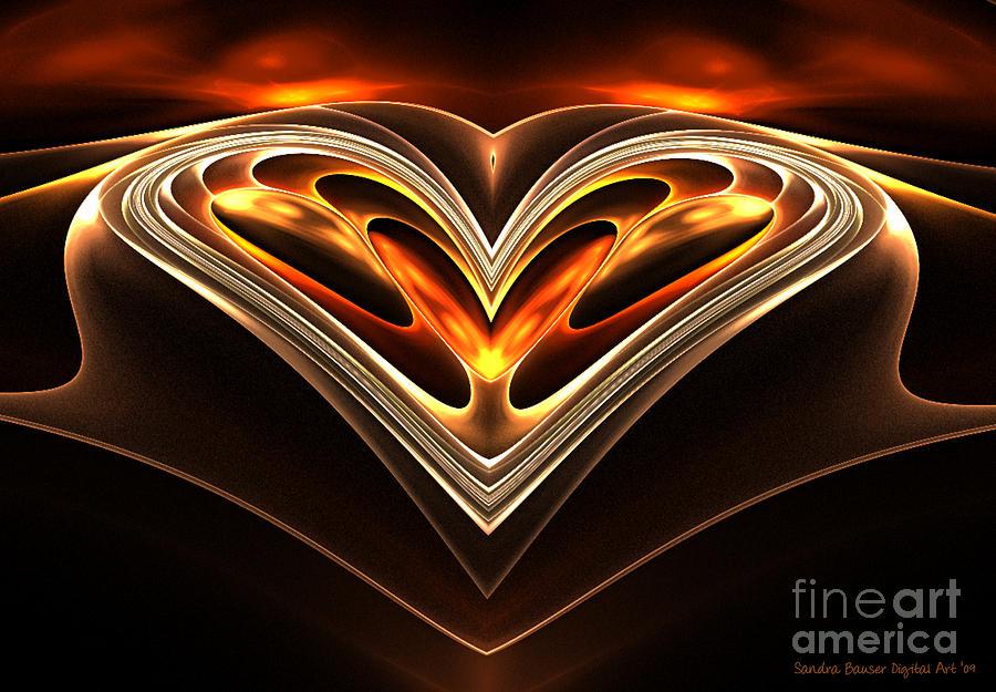 Digital Digital Art - Burning Desire by Sandra Bauser Digital Art