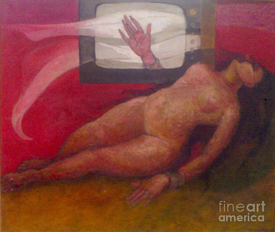 Painting Painting - Burning Destiny by Madhusudan Kushary