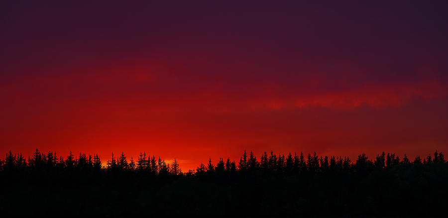 Sky Photograph - Burning In The Sky by Stuart Deacon
