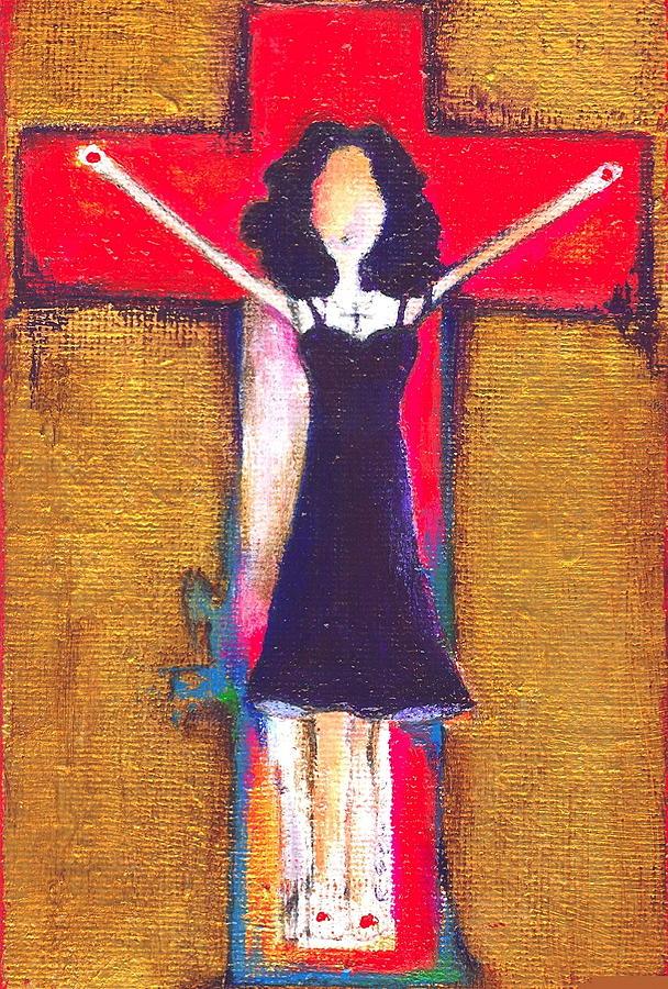 Madonna Painting - Burning Prayers by Ricky Sencion