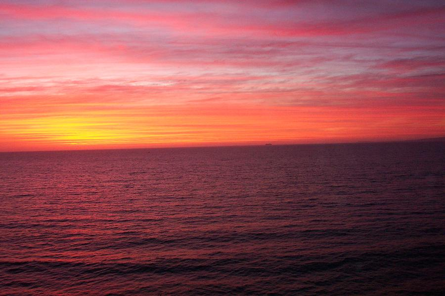Ocean Photograph - Burning Sky by James Johnstone