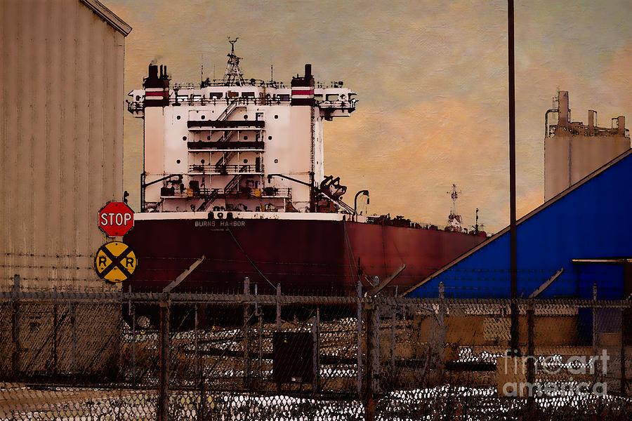 Burns Harbor Digital Art - Burns Harbor by David Blank