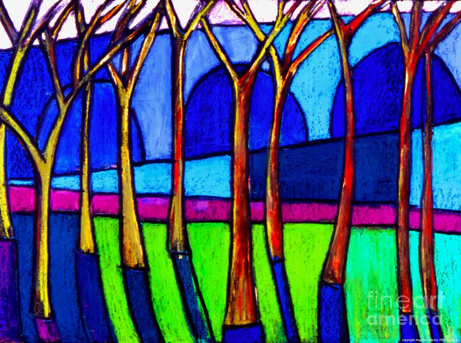 Landscape Painting - Burnside Bridge by Angelina Marino