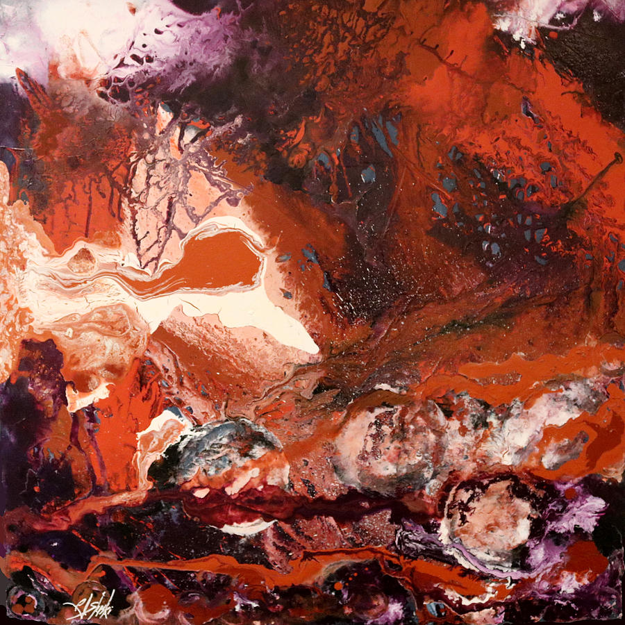 Abstract Art With Burnt Orange Color