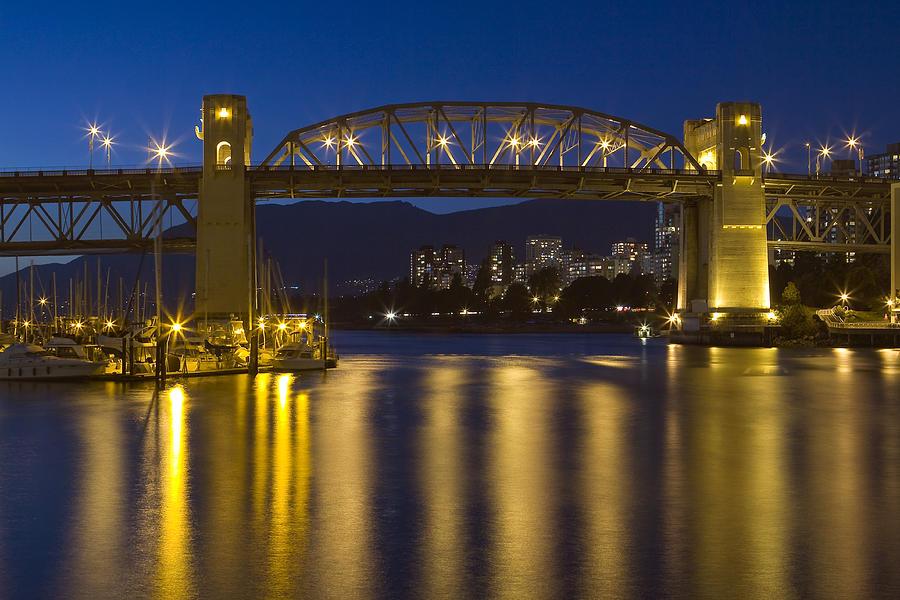 Vancouver B.c. Photography Photograph - Burrard Street Bridge Vancouver by Naman Imagery