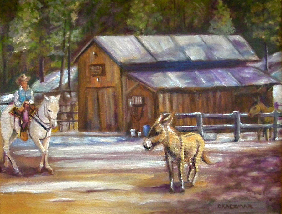 Landscape Painting - Little Jack At Old Town by Olga Kaczmar