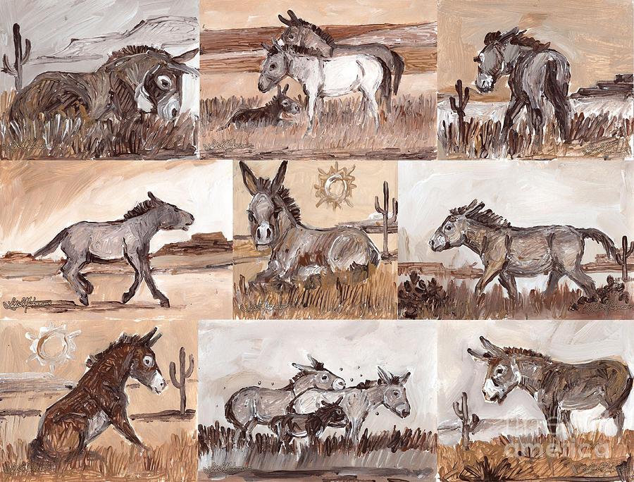 Burros of the South West Sampler by Linda L Martin