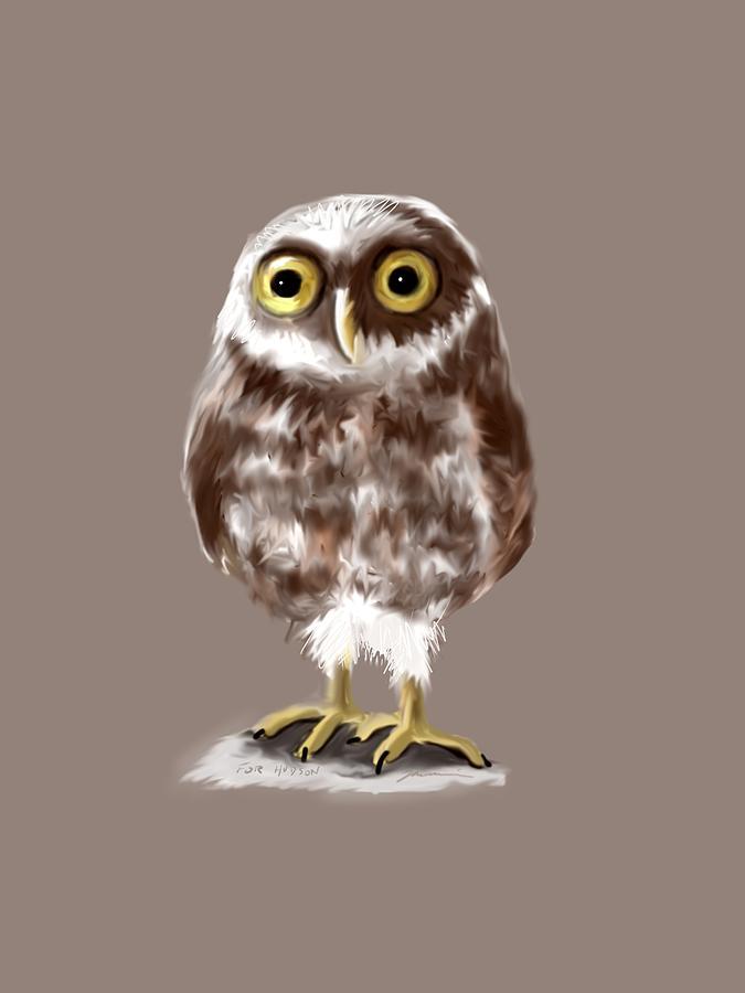 Owl Painting - Burrowing Owl by Jean Pacheco Ravinski