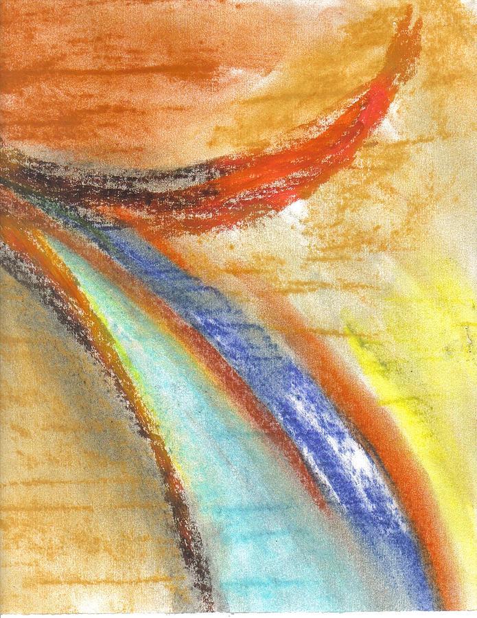 Burst II Painting by Michelle Aubin