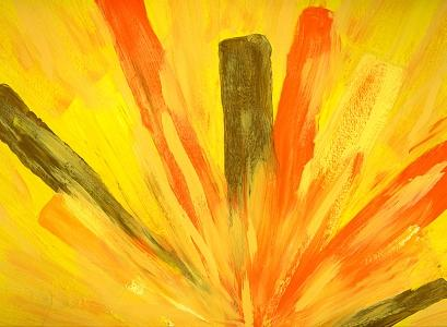Burst Painting by Margaret Knight