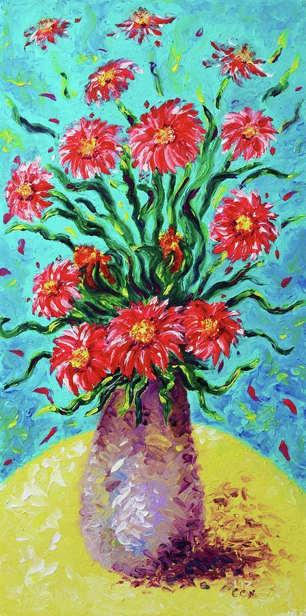 Burst of Gerbers by Elizabeth Cox