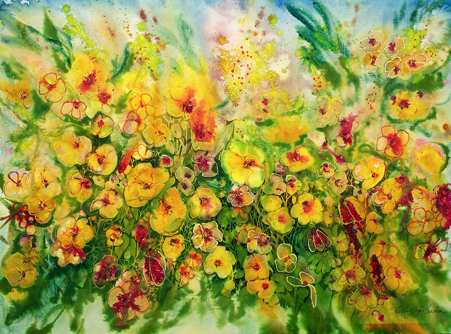 Burst of Gold 22X30 by Shirley Sykes Bracken